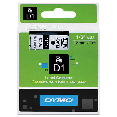 Dymo D1 Label Tape Black On White Various Sizes Sams Club