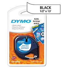 "DYMO LetraTag - 91331 Plastic Label Tape, 1/2"", White"