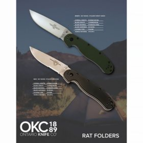 Ontario Knife Company RAT Model 1 Folder Combo Pack