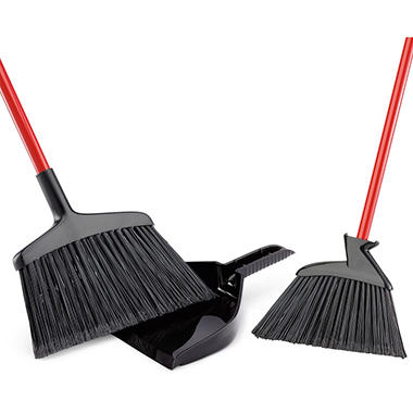 Libman 2 Brooms with Dustpan Set