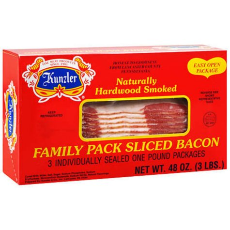 Kunzler Sliced Bacon (1 lb. pkg., 3 ct.)