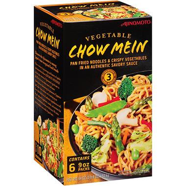 Ajinomoto Vegetable Chow Mein 9 Oz 6 Ct Sam S Club