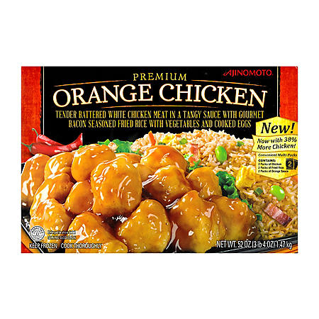 Ajinomoto Premium Orange Chicken with Gourmet Fried Rice (52 oz.)