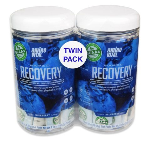 Amino Vital Rapid Recovery Twin Pack, Natural Blueberry Powdered Single-Serving Drink Mix (28 pk.)