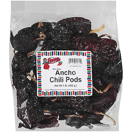 Bolner's Fiesta Ancho Chili Pods (1 lb.)