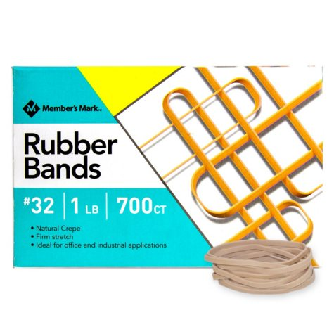 Member's Mark Rubber Bands, #32 1lb Box, Approximately 700 Bands