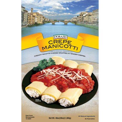 D'Orazio Cheese Stuffed Crepe Manicotti (3 lb.)