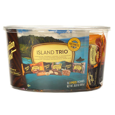 Hawaiian Host Chocolate Macadamia Assortment, Island Trio (36 pc.)