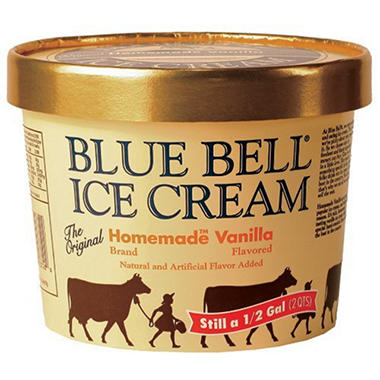 Blue Bell Gold Rim Homemade Ice Cream (1/2 gal.)