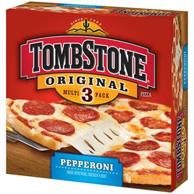 Tombstone Pepperoni Pizza Packs 618 Oz 3 Pk Sams Club