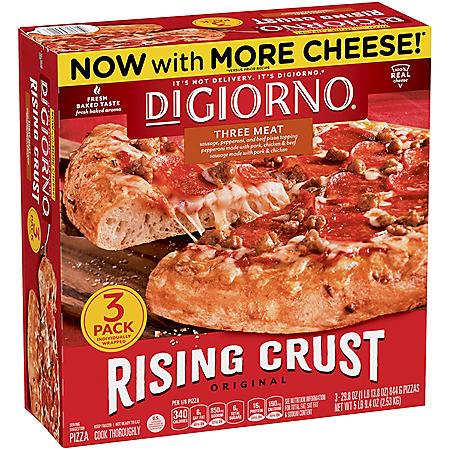 DiGiorno Rising Crust Three Meat Pizza, Frozen (3 pk.)