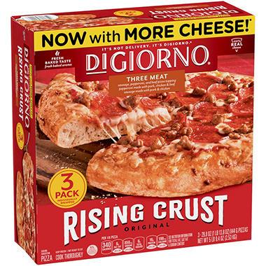Digiorno Rising Crust Three Meat Pizza 29 6 Oz 3 Pk