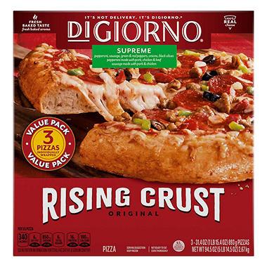 Digiorno Rising Crust Supreme Pizza 315 Oz 3 Ct Sams Club