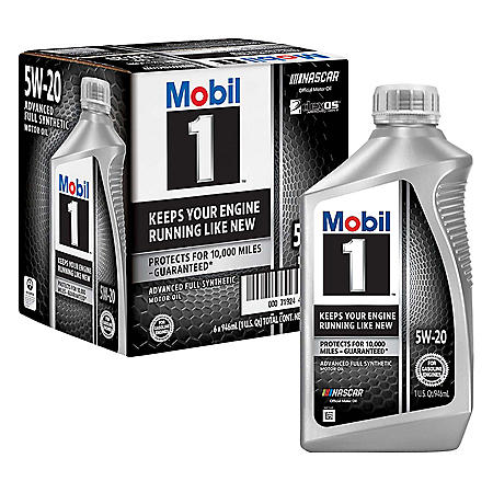 Mobil 1 5W-20 Motor Oil (6 pack, 1-quart bottles)