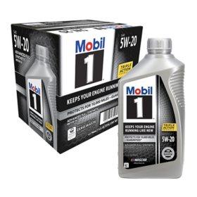 Mobil 1 5W-20 - Motor Oil (1-qt. bottles, 6 pk.)