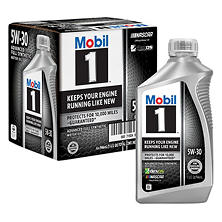 Mobil 1 5W-30 Motor Oil (6-pack / 1-quart bottles)