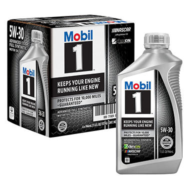 mobil 1 5w 30 motor oil 1 qt bottles 6 pk sam 39 s club. Black Bedroom Furniture Sets. Home Design Ideas