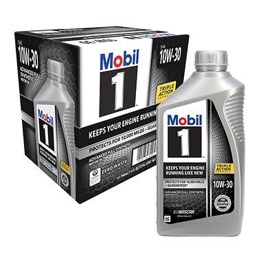 Mobil 1 10W-30 Motor Oil (1-qt. bottles, 6 pk