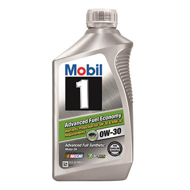 Mobil 1 Advanced Fuel Economy 0W-30 Motor Oil (1 qt. bottle, 6 pk.)