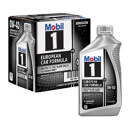 Mobil 1 FS 0W-40 Synthetic Motor Oil (1-qt. bottles, 6 pk.)