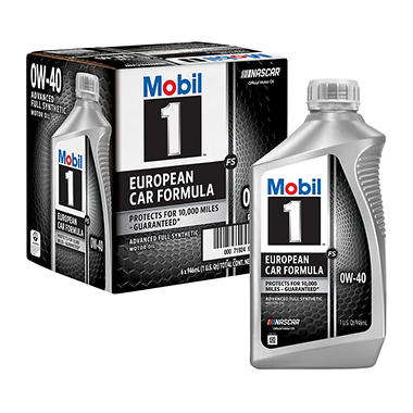 Mobil 1 fs 0w 40 synthetic motor oil 1 qt bottles 6 pk for Best non synthetic motor oil