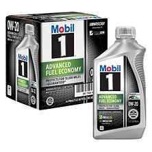 Mobil 1 0W-20 Advanced Fuel Economy Motor Oil (6-pack / 1-quart bottles)