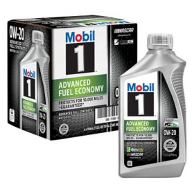 Mobil 1 0W-20 Advanced Fuel Economy Motor Oil (1-qt. bottles, 6 pk.)