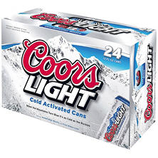 Coors Light Beer (12 oz. cans, 24 pk.)