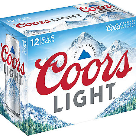 COORS LIGHT 12 /12 OZ CANS