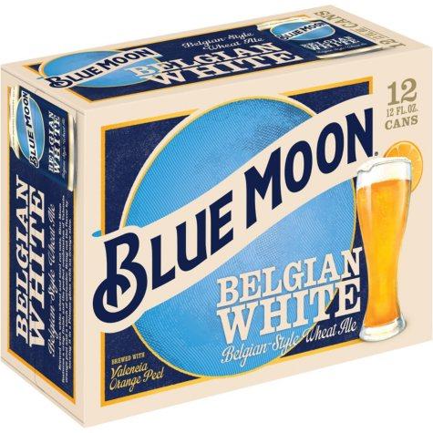 Blue Moon Belgian White Ale (12 fl. oz. can, 12 pk.)