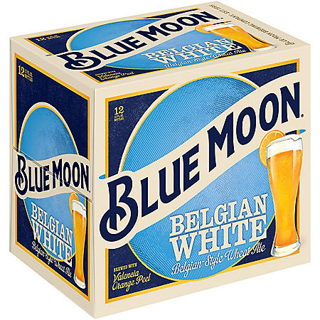 Blue Moon Belgian White Ale (12 fl. oz. bottle, 12 pk.)