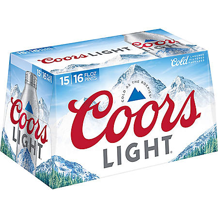 COORS LIGHT ALUM 15 / 16 OZ  BOTTLES