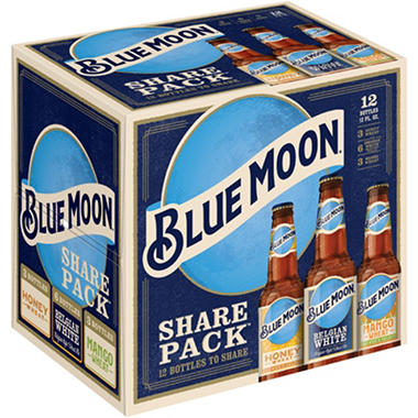 BLUE MOON VARIETY 12 / 12 OZ BOTTLES