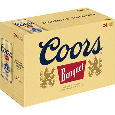 Coors Banquet Beer (12 fl. oz. can, 24 pk.)