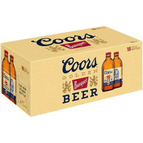 Coors Banquet Beer (12 fl. oz. bottle, 18 pk.)