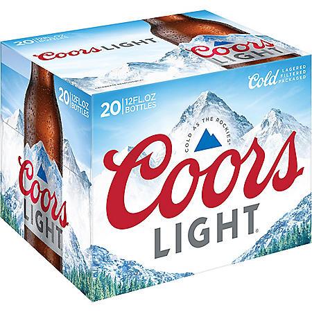 Coors Light Beer (12 fl. oz. bottle, 20 pk.)