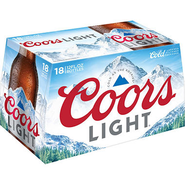 Coors Light Beer (12 fl. oz. bottle, 18 pk.)