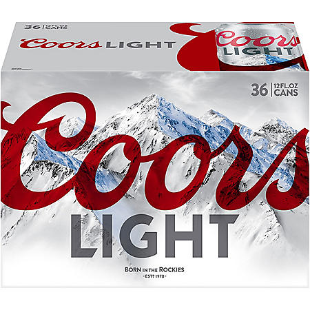 COORS LIGHT 36 / 12 OZ CANS