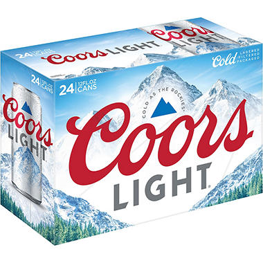 Coors Light Beer (12 fl. oz. can, 24 pk.)
