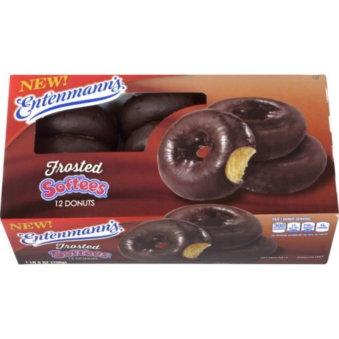 Entenmann's Chocolate Frosted Soft'ees Donuts (12 ct.)