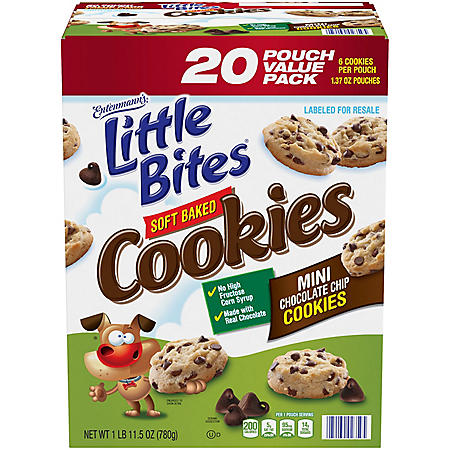 Entenmann's Little Bites Mini Chocolate Chip Cookies (1.37oz., 20 ct.)