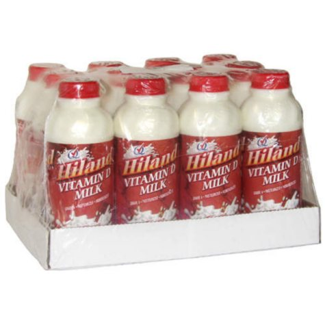 Hiland Vitamin D Milk (1 pt. bottle, 12 ct.)