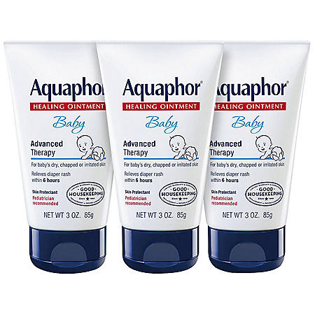 Aquaphor Baby Advanced Therapy Healing Ointment Skin Protectant (3.0 oz., 3 pk)