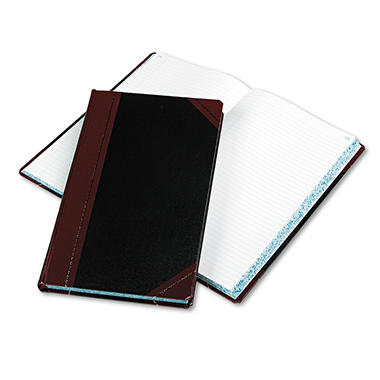 Boorum & Pease - Record/Account Book, Black/Red Cover, 300 Pages - 14 1/8