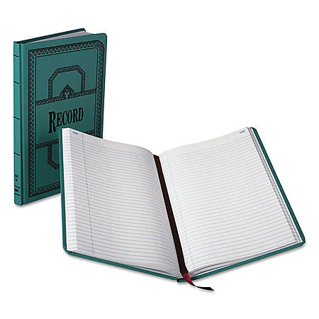 """Boorum & Pease Record/Account Book, Record Rule, Blue, 300 Pages (12 1/8"""" x 7 5/8"""")"""