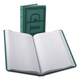 Boorum & Pease - Record/Account Book, Journal Rule, Blue, 500 Pages -  12 1/8 x 7 5/8