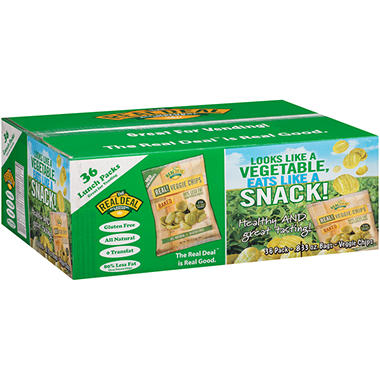 The Real Deal All Natural Snacks Real Veggie Chips (0.833 oz., 36 pk.)