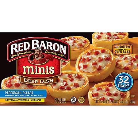Red Baron Minis Deep Dish Pepperoni Pizzas (44.48 oz., 32 ct.)