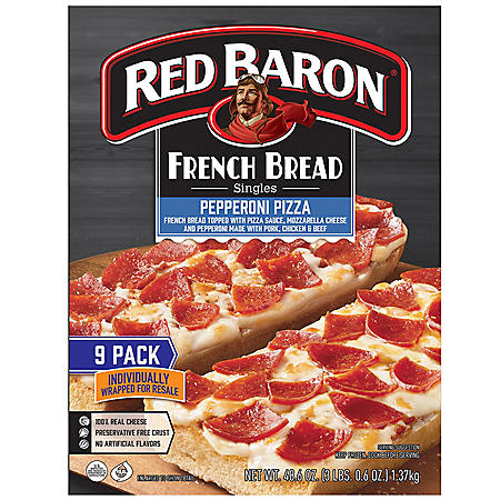 Red Baron French Bread Singles, Pepperoni (9 pk.)