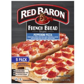Red Baron French Bread Singles, Pepperoni (9 pack)
